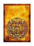 Maya Calendar Giclée-Premiumdruck von  frenta