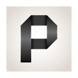 Letter Metal Ribbon - P Art by  Ecelop