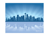 Seattle Skyline Print by  Yurkaimmortal