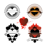 Heart Tattoos Prints by  bigldesign