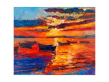 Sunset Over Ocean Prints by Boyan Dimitrov