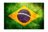 Flag Of Brasil Prints by  Cla78