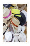 Summer Hats For Sell Print by  Cebas