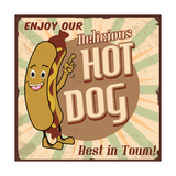 Hot Dog Poster Posters by  radubalint