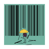 Barcode Art by kevin hill illustration