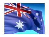 Flag Of Australia Prints by  bioraven