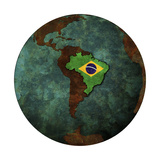 Brazil Flag Prints by  michal812