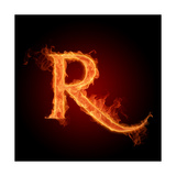 Fiery Font. Letter R Posters by  Misha