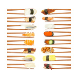 Sushi And Chopsticks Print by Rob Tek