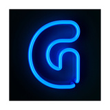 Neon Sign Letter G Premium Giclee Print by  badboo