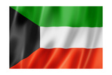 Kuwaiti Flag Prints by  daboost