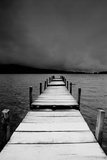 Jetty View In Black And White Prints by  Creativa