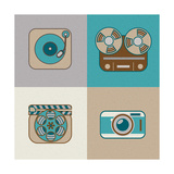 Retro Flat Arts Icon Poster by  YasnaTen
