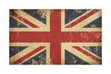 Uk Aged Flat Flag Prints by  nazlisart