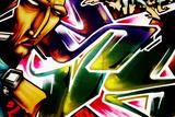 Colorful, Vibrant, Illegal Graffiti Tag In Brighton Prints by  sammyc