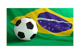 Football Brazil Poster by  3dfoto