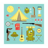 Camping Icons Prints by vector pro