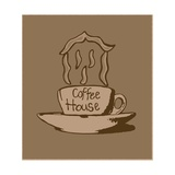 Coffee House Vintage Prints by  Logan81