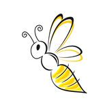 Bee Stylized Affiche par  talitha