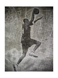 Streetball Dunking Graffiti Print by  yobro