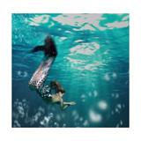 Girl As Mermaid Affiche par  bezik