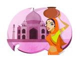 Indian Woman Art by  Marish