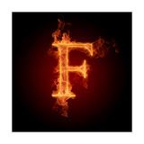 Fiery Font. Letter F Prints by  Misha