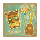 Vintage Hawaiian Card Prints by  elfivetrov