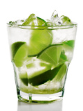 Caipirinha - National Cocktail Of Brazil Made With Cachaca, Sugar And Lime Photographic Print by  svry