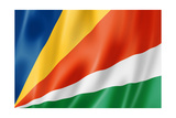 Seychelles Flag Prints by  daboost