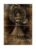Steampunk Girl Print by  deaddogdodge