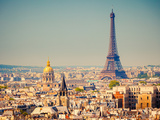 View On Eiffel Tower, Paris, France Stampa fotografica di  sborisov