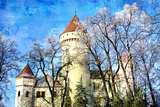Beautiful Winter Castle - Picture In Painting Style Prints by  Maugli-l