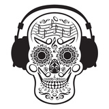 Music Skull Prints by Andrius Repsys