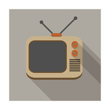 Retro Tv Set Poster by  YasnaTen