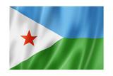 Djibouti Flag Plakater af daboost