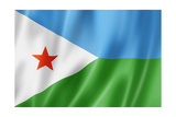 Djibouti Flag Prints by  daboost
