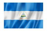 Nicaragua Flag Print by  daboost
