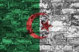 Algeria Flag On Wall Plakater af simon johnsen