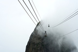 An Image Of A Cable Car Through The Mist Prints by  jduggan