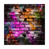 Graffiti Brick Wall Prints by Eky Studio