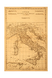 Antique Map Of Italy Prints by  Tektite