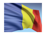 Flag Of Romania Posters by  bioraven