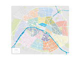 Map Of Paris And France Print by  shootandwin
