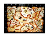 Treasure Map Poster von  prawny