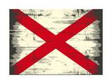 Alabama Grunge Flag Poster von  TINTIN75