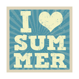 I Love Summer Poster Posters by  radubalint