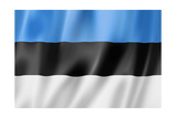 Estonian Flag Poster by  daboost