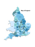 Map Of England Prints by  Vlada13