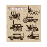 Steam-Punk Cars Posters by  alexzel